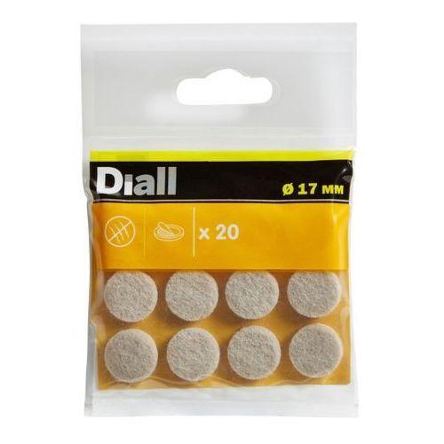 Diall Podkładki samoprzylepne filcowe 17 mm beżowe 20 szt.