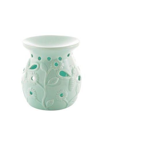 Kominek na olejek ażurowy ceramiczny kwiat miętowy marki Home