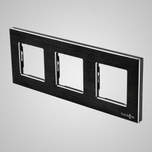 Els elektrotechnika sp. z o.o. sp. k. Touchme ramka potrójna aluminium czarna tm617b (5902273844624)