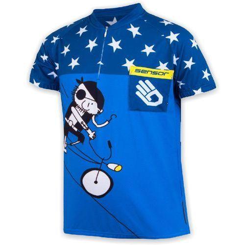 koszulka rowerowa dla dzieci cyklo pirate blue marki Sensor
