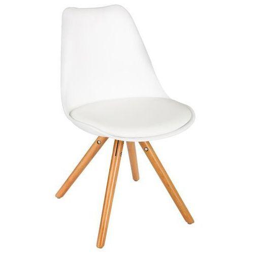 Krzesło do biurka, do salonu, wygodne siedzenie, 54 x 48 x 81 cm, biały