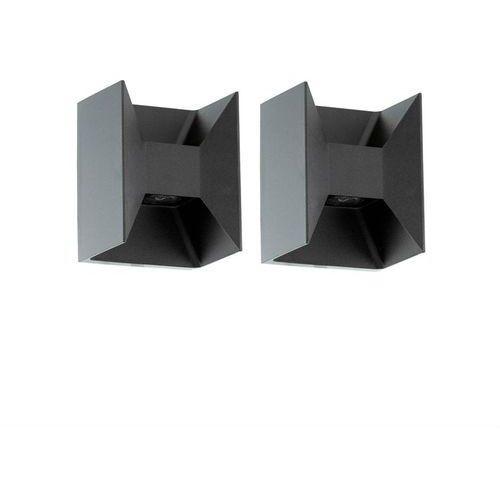 MORINO-2 Kinkiety zewnętrzne LED 2-punktowe Aluminium Antracyt Wys.18cm (3663710130343)