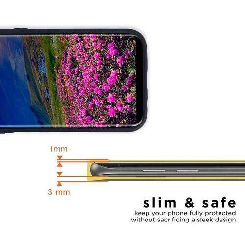 Zizo Metallic Hybrid Cover - Etui Samsung Galaxy S8+ z kieszenią na kartę (czarny/srebrny)