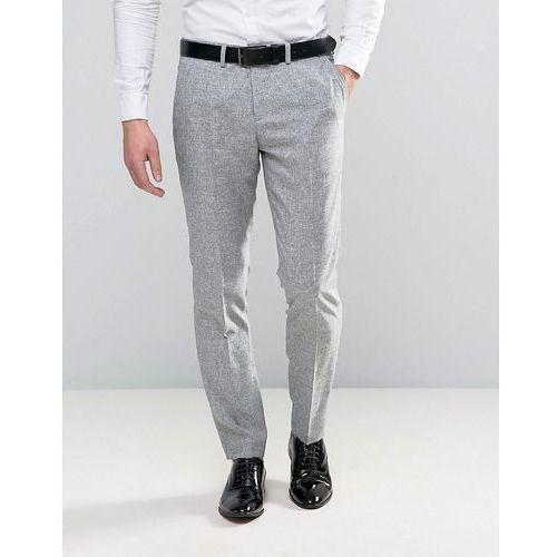 Jack & Jones Premium Slim Suit Trouser in Salt and Pepper - Grey