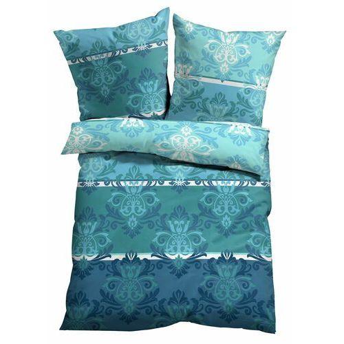 Bonprix Pościel z nadrukiem w ornamenty niebieski