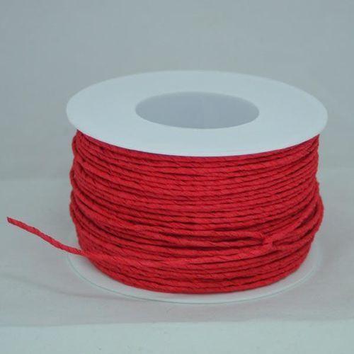 Creativehobby Ozdobny sznurek papierowy z drutem - czerrwony - cze