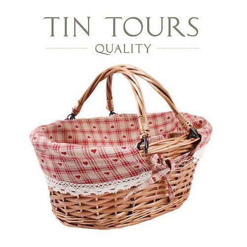 Tin tours sp.z o.o. Wiklinowy koszyk ze składanymi uchwytami 36x26x15/29h cm
