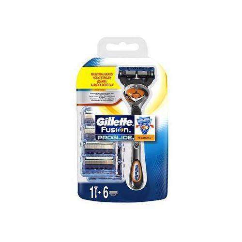 fusion proglide flexball maszynka do golenia + ostrza wymienne 6 szt. marki Gillette