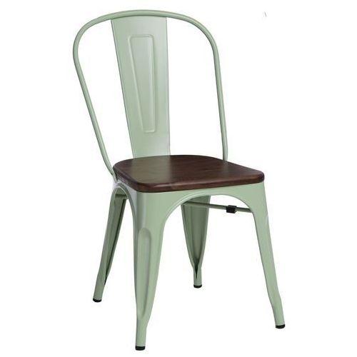 D2.design Krzesło paris wood zielone sosna orzech modern house bogata chata