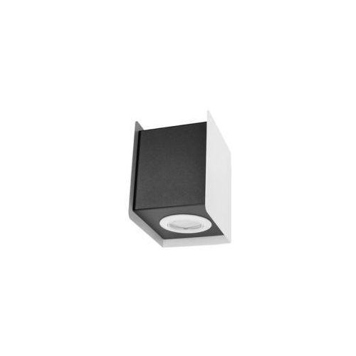 Sol Kinkiet lampa ścienna sl.401 metalowa oprawa kwadratowa kostka cube biała czarna