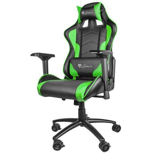 Natec Genesis fotel dla gracza nitro 880 czarno-zielony nfg-0909 - odbiór w 2000 punktach - salony, paczkomaty, stacje orlen (5901969407440)