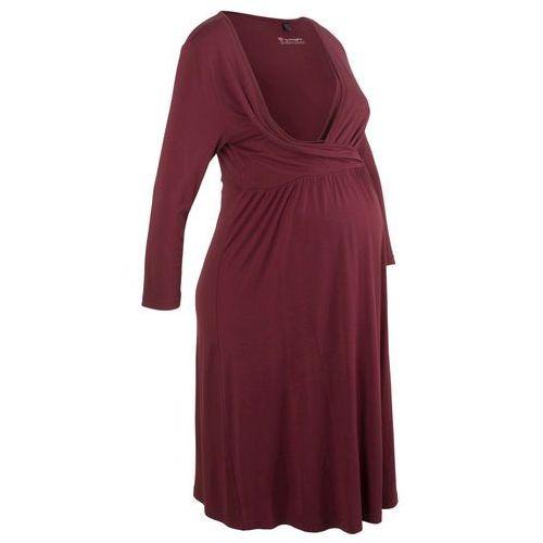 Sukienka shirtowa ciążowa i do karmienia czerwony klonowy, Bonprix, 36-54