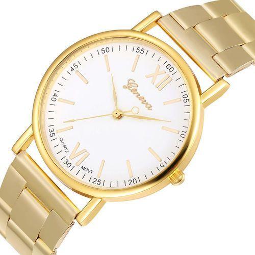 Zegarek blogerek klasyk złoty bransoleta - steel gold marki Geneva