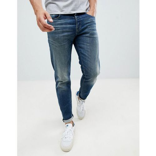 Selected Homme Washed Blue Jeans In Tapered Fit - Blue, jeans