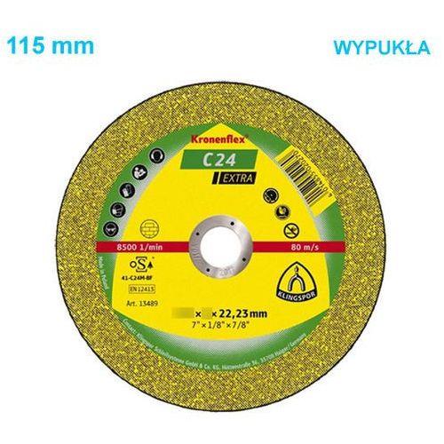 Klingspor Tarcza do cięcia kronenflex c 24 extra 115 x 2,5 x 22 mm wypukła