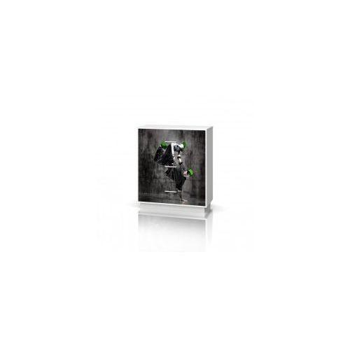 Baggi design Komoda szeroka 3 szuflady mix hip hop green