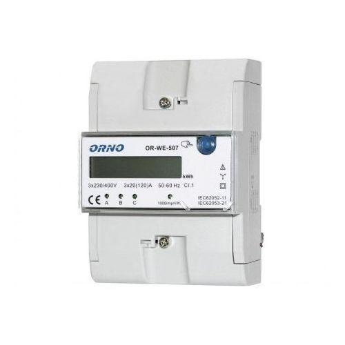 3 fazowy 20(120)A Wskaźnik licznik zużycia energii elektrycznej OR-WE-507 ORNO 2340 (5901752482340)
