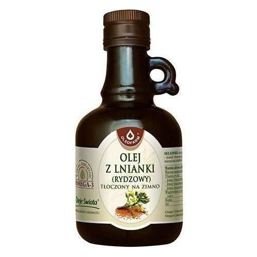 Olej z lnianki (rydzowy) tłoczony na zimno 250ml marki Oleofarm