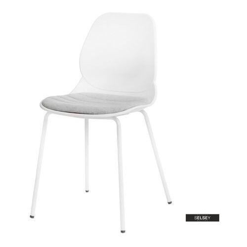 Selsey krzesło layer z tapicerowanym siedziskiem białe marki D2