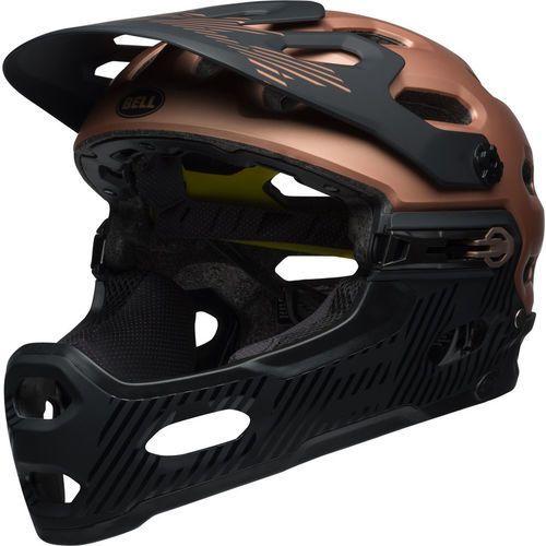 Bell super 3r mips kask rowerowy brązowy/czarny l   58-62cm 2018 kaski fullface i downhill