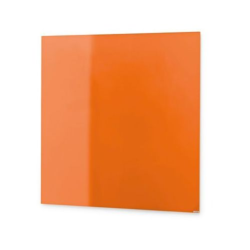 Szklana tablica suchościeralna, 500x500 mm, jaskrawy pomarańczowy marki Aj produkty