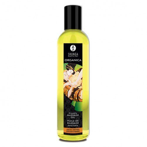 Olejek do masażu organiczny - Shunga Massage Oil Organic Almond Sweetness Migdały - produkt z kategorii- Olejki do masażu