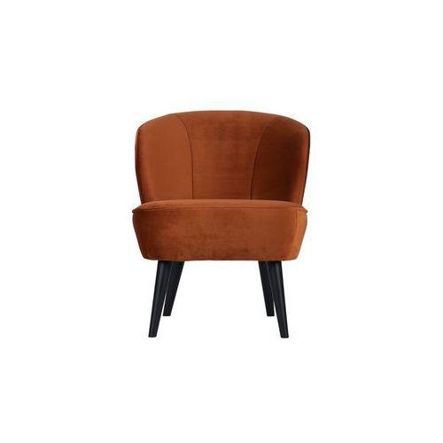 Woood:: Fotel SARA rdzawy - pomarańczowy, kolor pomarańczowy