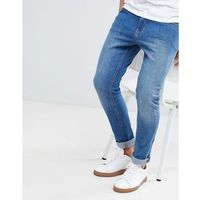 LDN DNM Spray On Jeans Aged Worn Wash - Blue, jeansy
