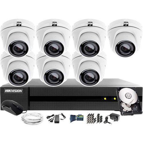 7x HWT-T123-M zestaw do monitoringu Hikvision Hiwatch HWD-6108MH-G2, 1TB, Akcesoria