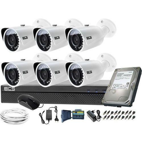 Idealny zestaw do monitoringu 6 kamer tubowych BCS-TQ3200IR-E Rejestrator BCS-XVR0801-III Dysk 1TB, ZM11394