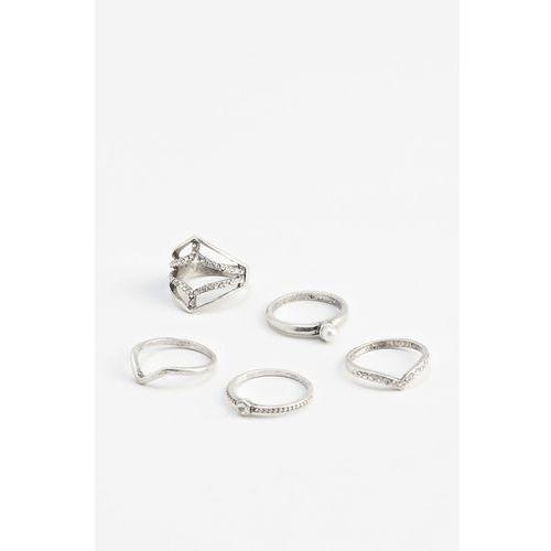 Mango - Komplet pierścionków Lila (5 sztuk)