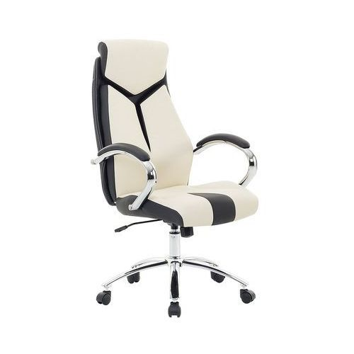 Krzesło biurowe beżowe regulowana wysokość FORMULA 1 (7081454328363)