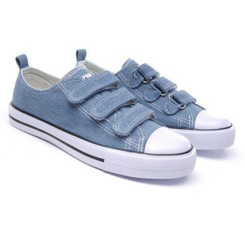 Półtrampki dziecięce American Club LH-17-DSTC-JEANS-03/04 niebieski 03 35 niebieski, kolor niebieski