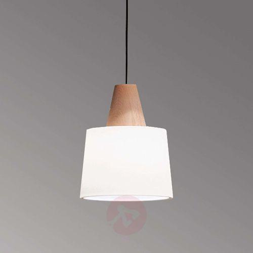 Lampa wisząca Eduardo z drewnianym elementem