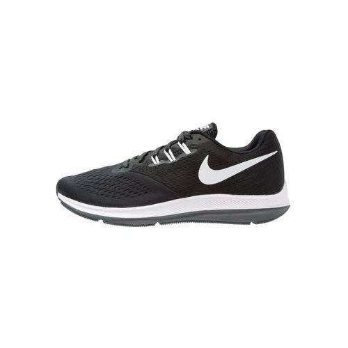 performance zoom winflo 4 obuwie do biegania treningowe black/white/dark grey marki Nike