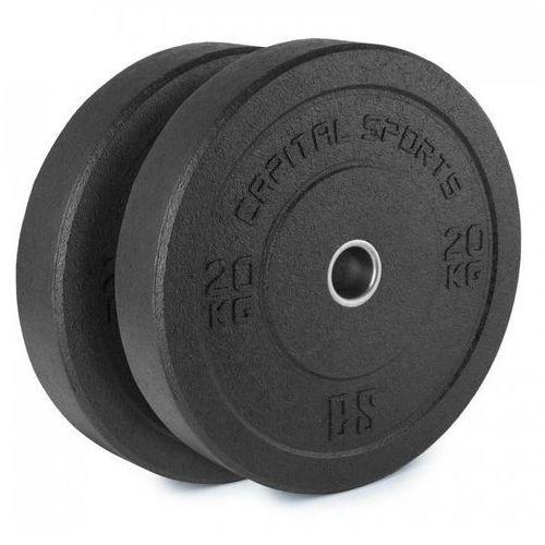 Capital Sports Renit Hi Temp Obciążniki 50,4 mm Rdzeń aluminiowy Guma 2x 20kg