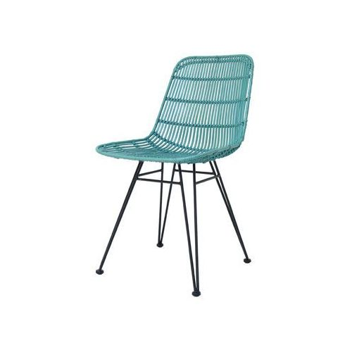 HK Living Krzesło rattanowe miętowe RAT0015, kolor zielony