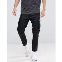 boohooMAN Slim Fit Cargo Trousers In Black - Black