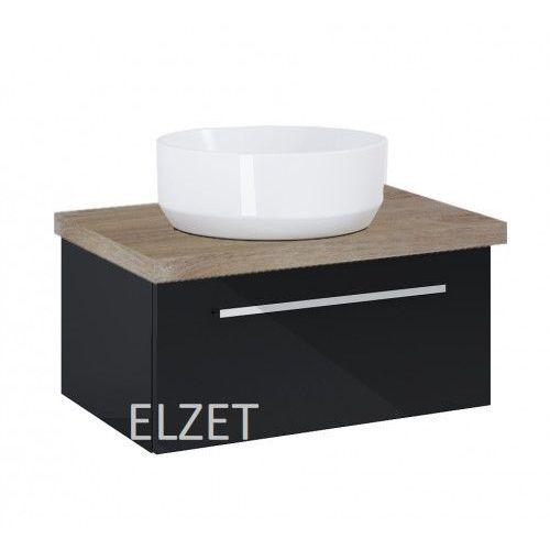 ELITA szafka Kwadro Plus 1S black pod umywalkę nablatową + blat 60 dąb classic 167644.166871, 167644.166871