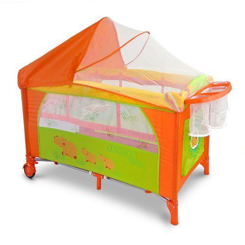 Kojec łóżeczko 2 poziomy mirage delux hipcio hippo #b1 marki Milly-mally