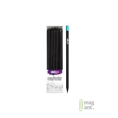 Ołówek z czarnego drewna z diamentem hb op.36 szt. marki Strigo