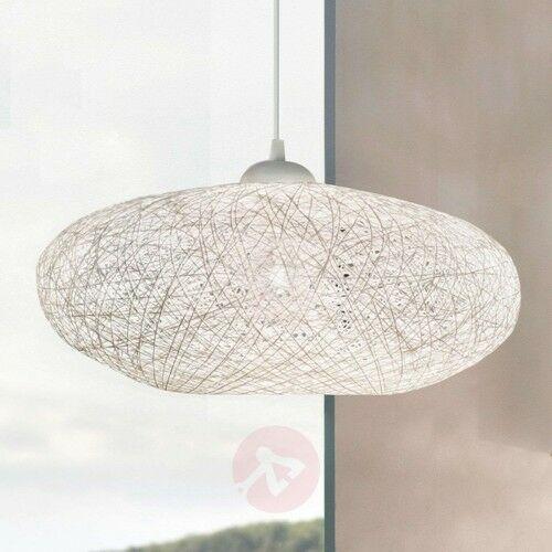 Tekstylna lampa wisząca campilo, biała marki Eglo