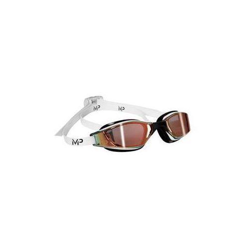 Michael phelps aqua sphere Męskie okulary pływackie xceed gold titanium mirrored czarne/białe