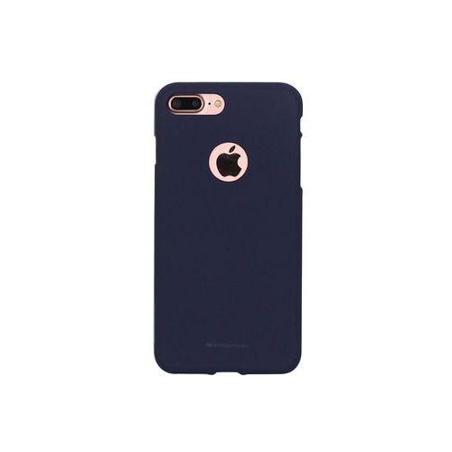 Apple iphone 7 plus - etui na telefon soft feeling - granatowy marki Mercury goospery