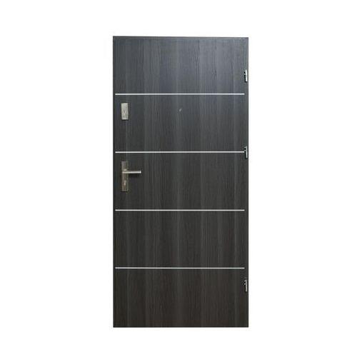 Drzwi wejściowe HEKTOR Dąb grafit 80 Prawe DOMIDOR (5907479334122)