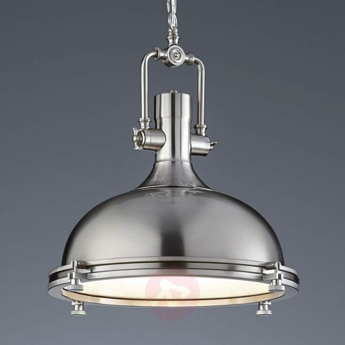 Atrakcyjna lampa wisząca Boston, matowy nikiel