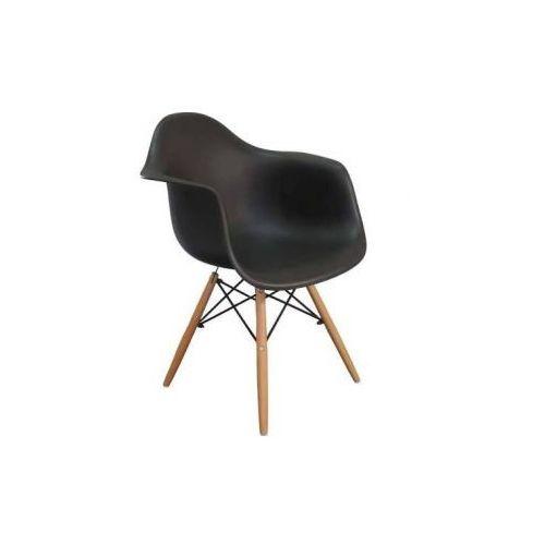 """Krzesło """"orio""""- czarne z bukowymi nogami marki Pozostali"""