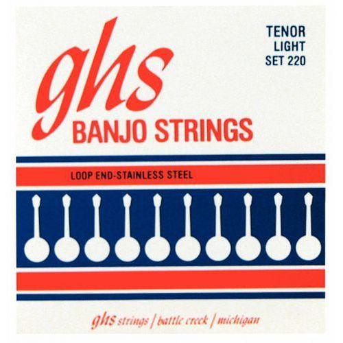 tenor struny do banjo tenorowego, 4-str. loop end, stainless steel, light,.009-.028 marki Ghs