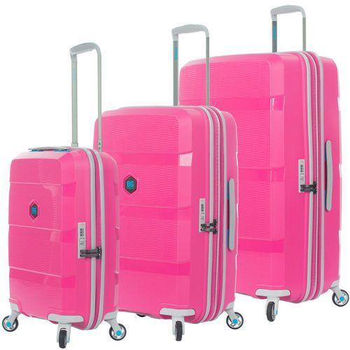 Bg berlin zip2 zestaw walizek / komplet / walizki na 4 kółkach / pop pink - pop pink