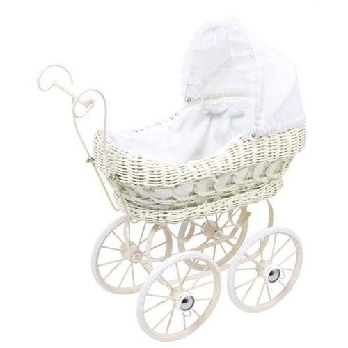 Wózek vintage wiklinowy dla lalek odeta - 36x20 cm marki Small foot design